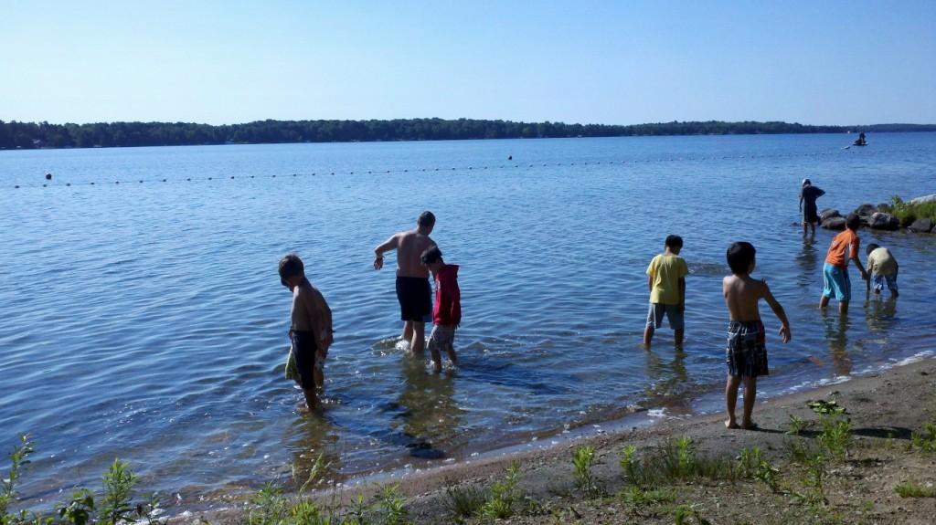 Swimming on Balsam Lake