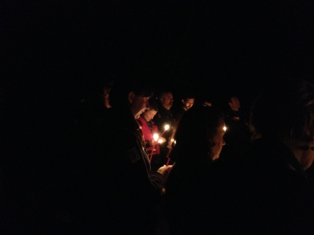 Prayers at the campfire