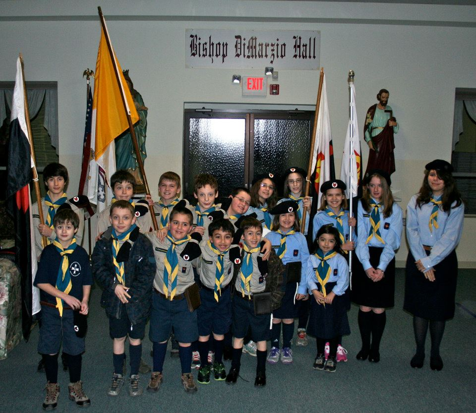 All of our Timber Wolves and Explorers after Mass