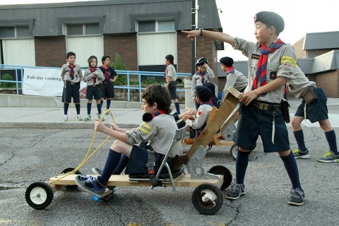Timber Wolf cart race
