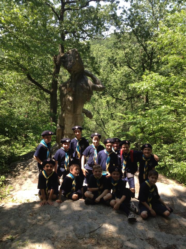 Timber Wolves at the statue