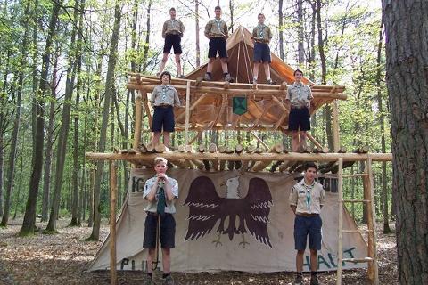 Explorers tenting