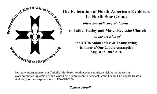 Mater Ecclesiae - Assumption Mass