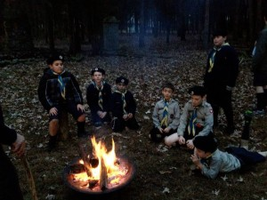 FNE Timber Wolves around the campfire