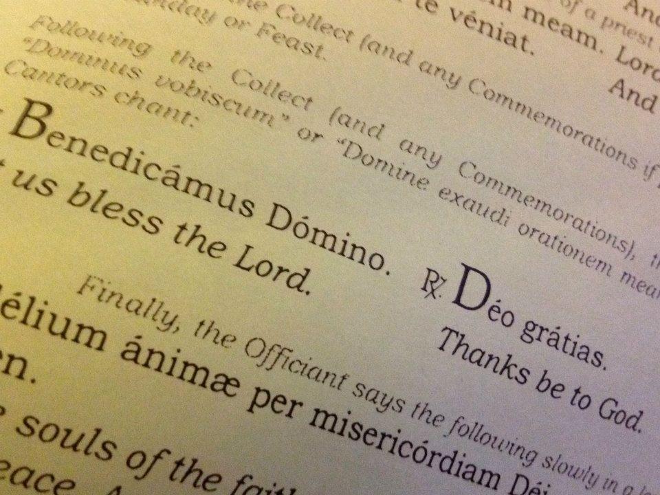 Benedicamus Domino. Deo gratias.