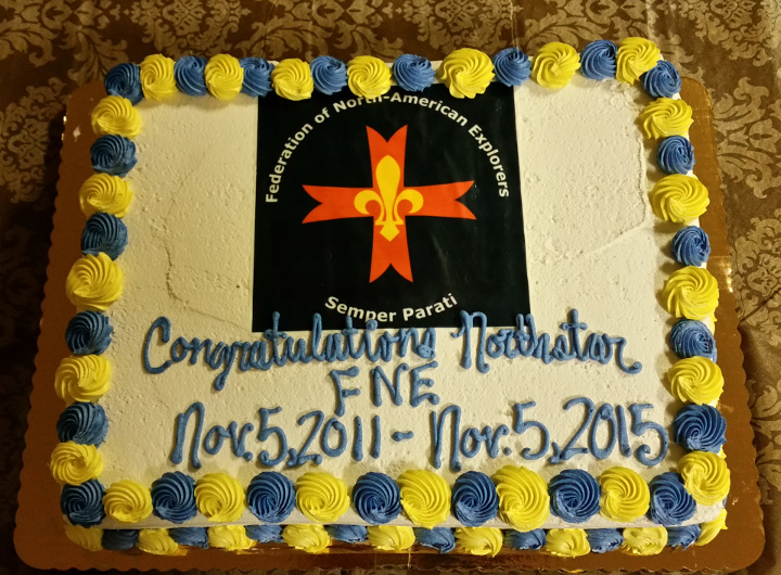 North Star FNE 4th Anniversary Cake - Federation of North-American Explorers