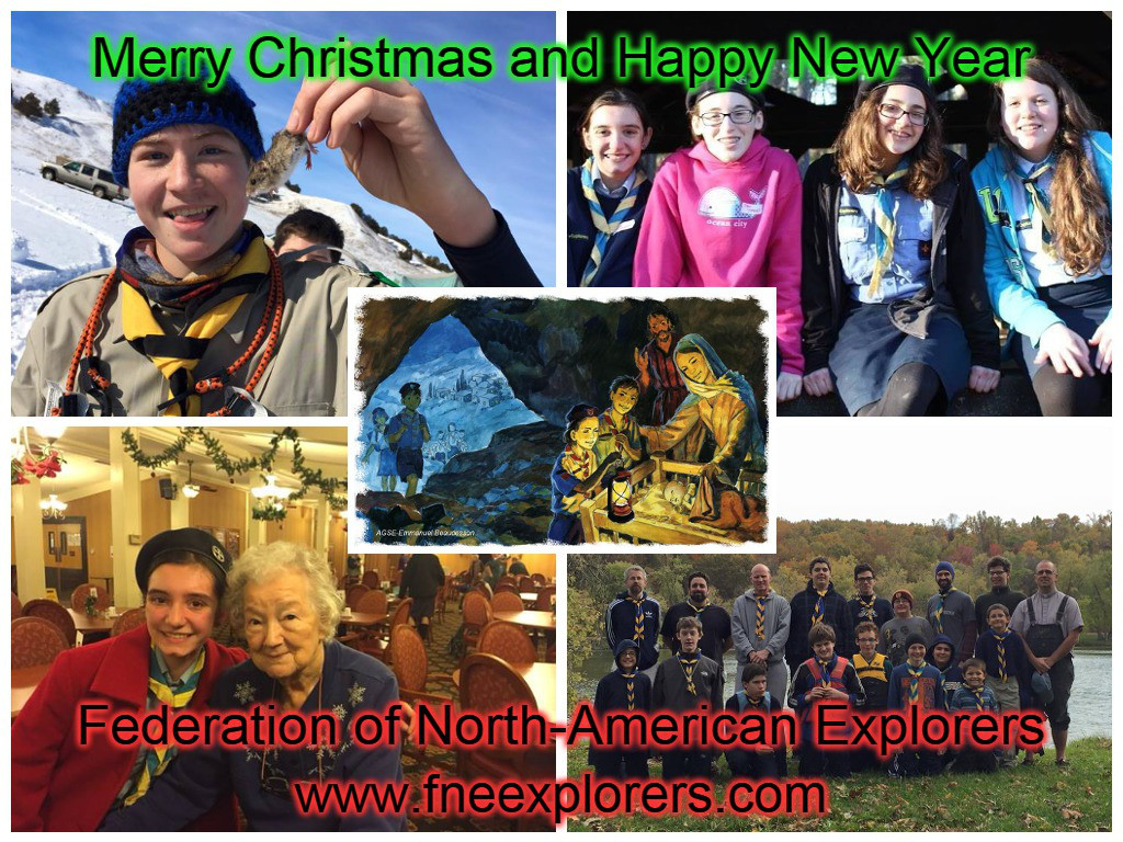 Federation of North-American Explorers - Christmas card